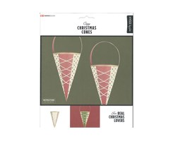 Traditional X-Mas Cones 6pcs