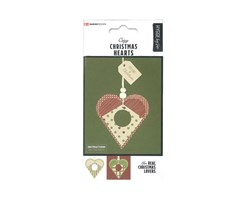 Traditional X-Mas Hearts 6pcs.