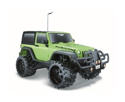 Off-Road Jeep Wrangler Rubicon 1:16 27/40Mhz green