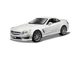 Mercedes-Benz SL 65 AMG Hardtop 1:24 metal white