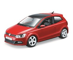 VW Polo GTI Mark 5 1:24 red