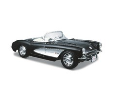 1957 Chevrolet Corvette 1:24 black