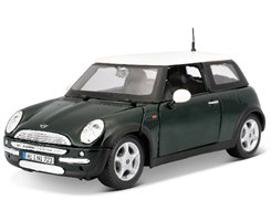 Mini Cooper 1:24 met green