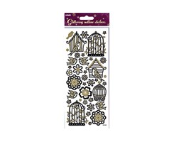 Stickers Glitter Outline fulgebure 10x23