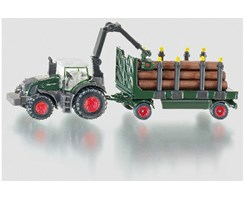 Tractor w/vehicle & tree trunk 1:87