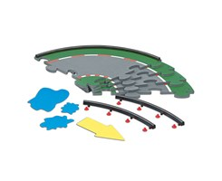 Racing racetrack set, curved section