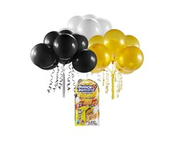 Bunch O Balloons Refill black/gold/white display