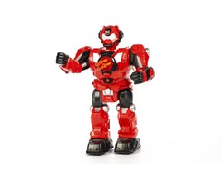 Shooting robot R/C w/5 darts blue/red mix