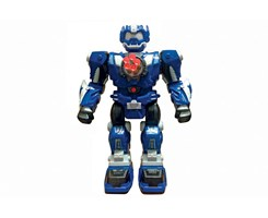 RC shooting robot, w/5 darts blue