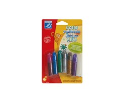 GLITTER GLUE CLASSIC ASSORTMENT 6X5,5 ML