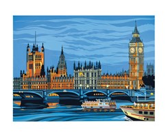PAINT BY NUMBER 30X40 HOUSES OF PARLEMENT